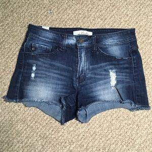 Kancan Distressed jean shorts 27x2